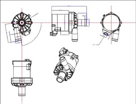 car electric water pump P8001
